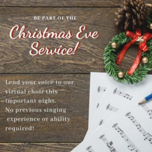 christmas wreaths and sheet music